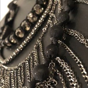 GEMS CHAINS RIBBON MESH BEADS AND MORE NECKLACE